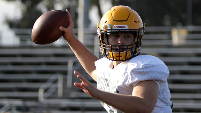 Sophomore quarterback Blake Sturgill has passed for 2,966 yards with 32 touchdowns and 14 interceptions to help Moorpark reach the Division 5 title game.