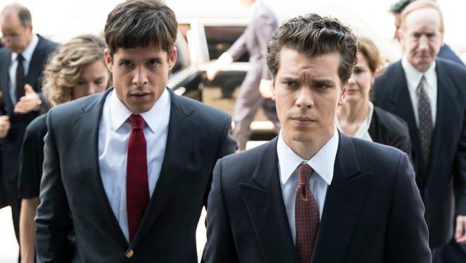 Miles Gaston Villanueva as Lyle Menendez and Gus Halper as Eric Menendez in 'Law & Order True Crime: The Menendez Murders.'