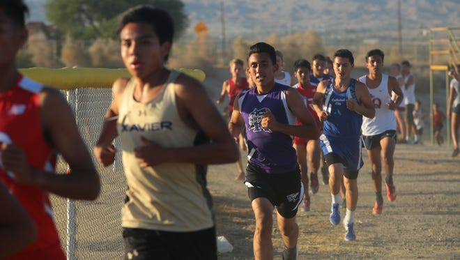 Runners compete in the second Desert Valley League cross country meet of the season, Wednesday, October 11, 2017.