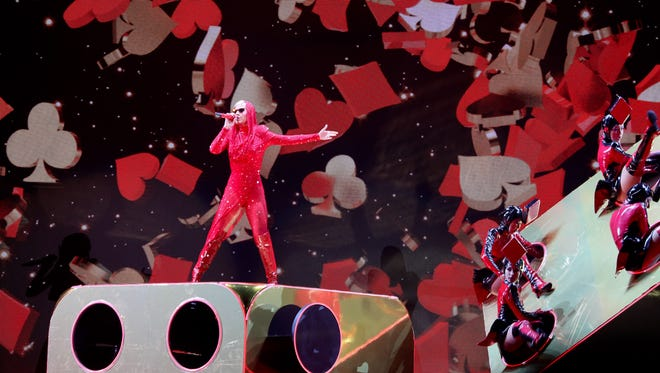 "Katy Perry brought her ""Witness: The Tour"" to the KFC Yum Center in Louisville on  Oct. 16, 2017."
