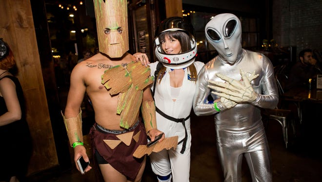 Groot was in good company at Halloween de Bizzare at Crescent Ballroom on Monday, October 31, 2016.