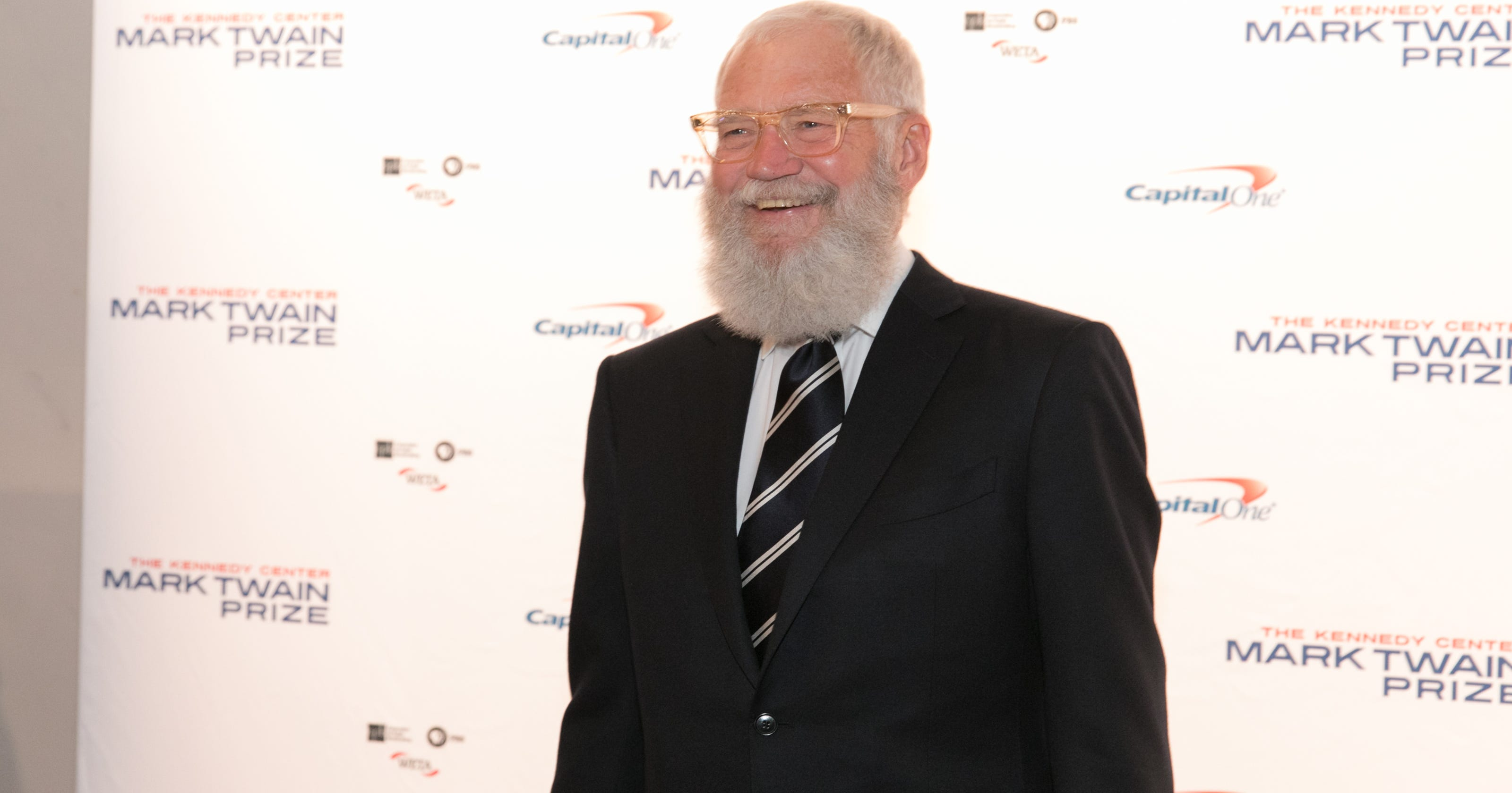 TV host David Letterman honored with Mark Twain Prize