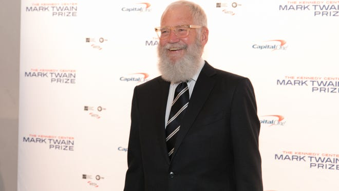 David Letterman arrives at the Kennedy Center to receive the Mark Twain Prize for American Humor.