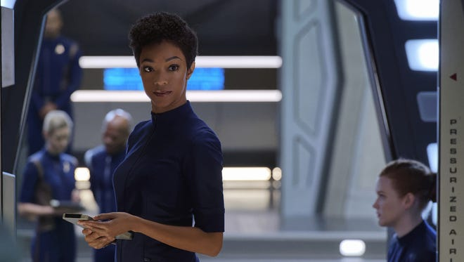 Sonequa Martin-Green as Michael Burnham on 'Star Trek: Discovery.'