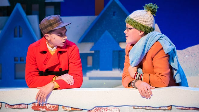 "Young Performers Ben Kindler (as Charlie Brown) and Holden Glass (as Linus) in First Stage's ""A Charlie Brown Christmas"""