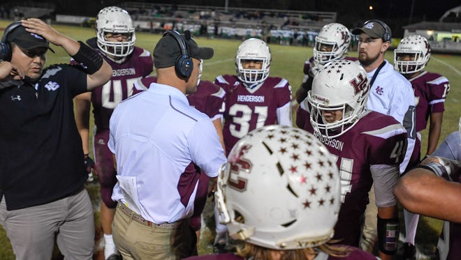 Henderson County hosts Meade County in the first round of the playoffs at Colonel field Friday, November 3, 2017.