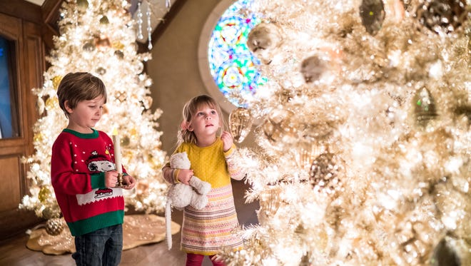 Children explore the wonders of Nutcracker in the Castle at the Paine Art Center and Gardens.