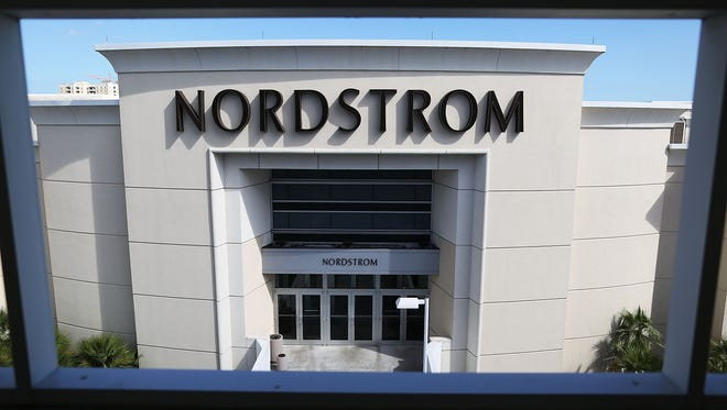 Nordstrom's shares slipped after it said store sales were down.