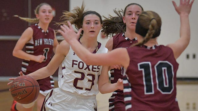 Omro senior Ashley Buchholz was a unanimous first-team all-Flyway Conference selection last season and has been a three-year starter on varsity for the Foxes.