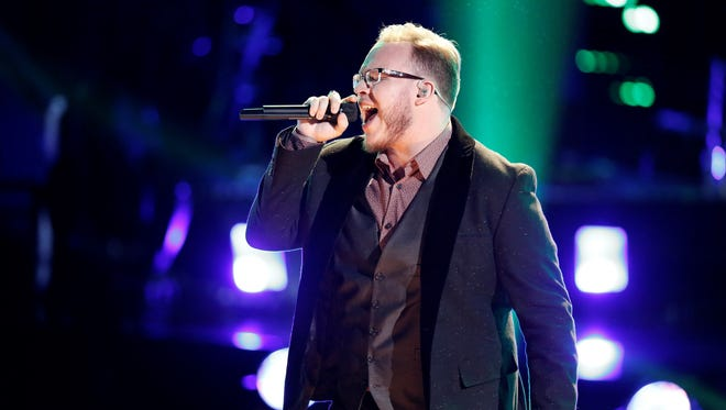 "Lucas Holliday performed Prince's ""The Beautiful Ones"" during the playoffs on ""The Voice"" Monday night."