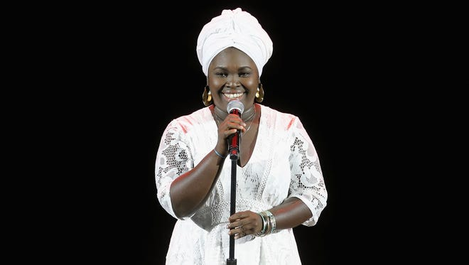 Singer-songwriter Dayme Arocena performs onstage during Tina Brown's 7th Annual Women In The World Summit at David H. Koch Theater at Lincoln Center on April 7, 2016 in New York City. Arocena's performance at the College of St. Benedict/St. John's University was rescheduled due to difficulties getting paperwork done in Cuba.