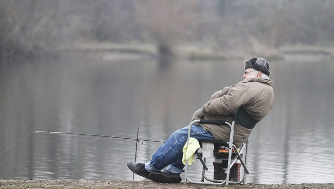 Dress for the weather for spring fishing at Wirth Lake and Walling Pond, both of which were stocked this week.