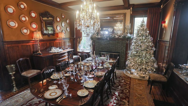 The dining room at the home of Karan Chavis and Craig Blakely in Louisville, KY. Nov. 17, 2017