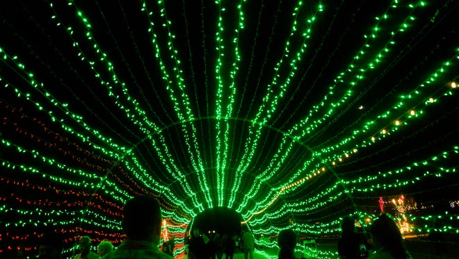 The annual WildLights holiday event at the Living Desert celebrates 25 years at the zoo with more than a million sparkling holiday lights including the wildly popular tunnel of lights that flash to holiday music.