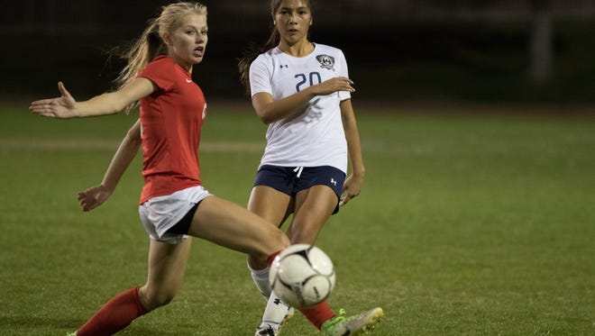 La Quinta and Palm Desert battled to a 1-1 tie on Tuesday night. This photo is from their first meeting of the year, a 4-0 La Quinta win.