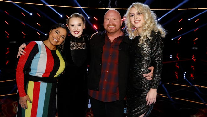 Brooke Simpson, Addison Agen, Red Marlow, Chloe Kohanski on 'The Voice.'