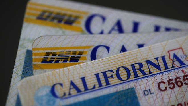 California Drivers Licenses are shown in a photo illustration by Getty Images.