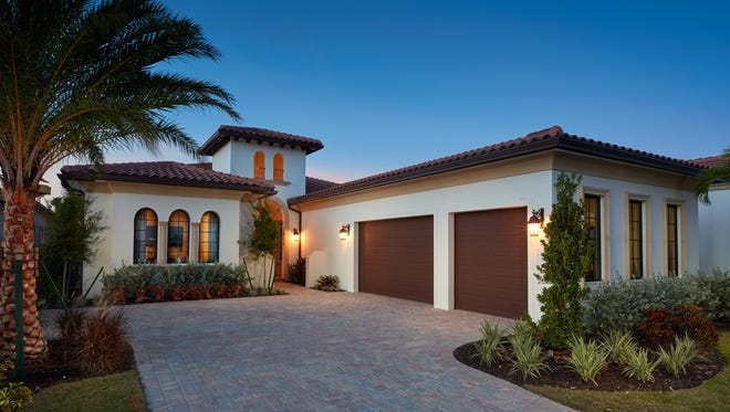London Bay'sCarina model at Miromar Lakes offers three bedrooms and 3½ bathrooms with 3,428 square feet under air and 4,850 total square feet.