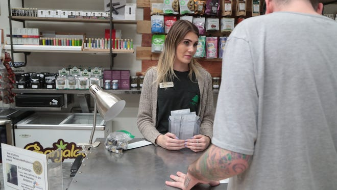 HOTN Cultivation Company in Cathedral City is one of many local marijuana dispensaries now open for recreational sales, January 3, 2017.