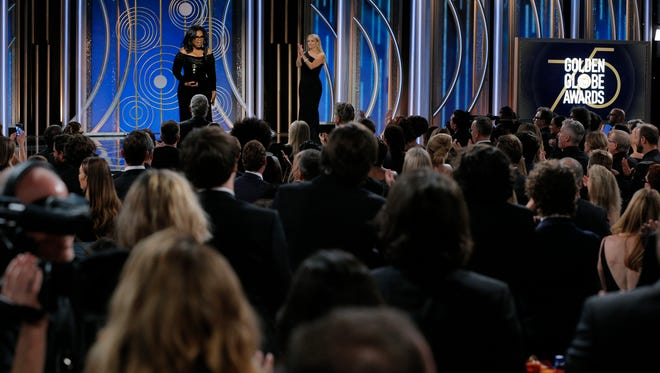 There were a number of stars in attendance at the serious Golden Globes Sunday. Not there? A few activists who complained about being excluded from the Hollywood event.