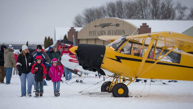 Twenty-eight skiplanes flew in for the annual EAA Skiplane Fly-In in 2016. This year's event is Feb. 10.