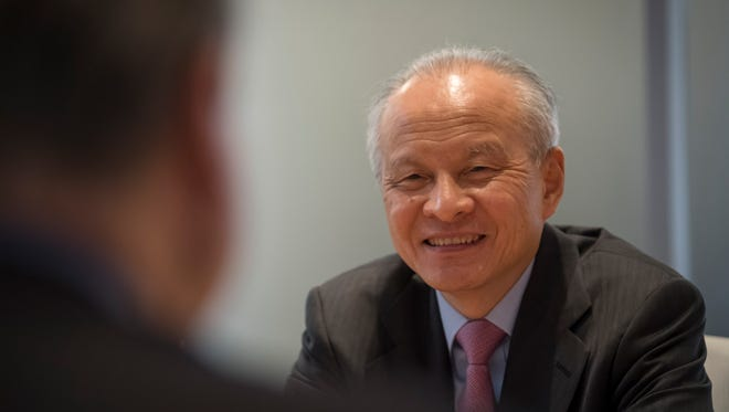 Cui Tiankai, China's ambassador to the United States, speaking to the USA TODAY Editorial Board on Jan. 23, 2018 in McLean, Va.