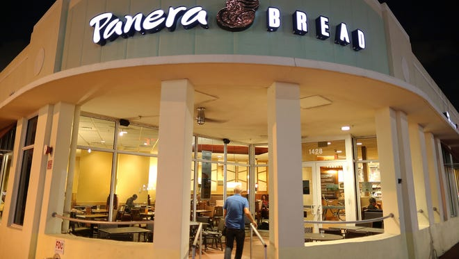 File photo taken in 2017 shows a Panera Bread eatery in Miami Beach, Florida.