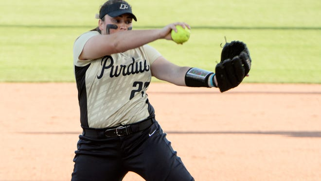 Purdue junior pitcher Kaitlynn Moody spent her freshman season at IUPUI.