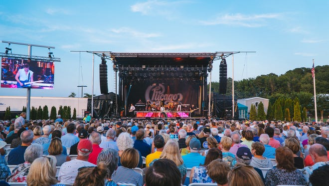 Chicago performs at The Freeman Stage at Bayside near Selbyville in 2017.