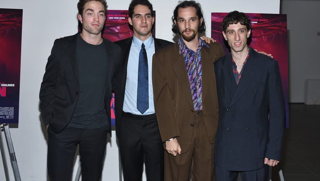 "(L-R) Robert Pattinson, Benny Safdie, Josh Safdie and Buddy Duress attend ""Heaven Knows What"" New York Premiere at the Celeste Bartos Theater at the Museum of Modern Art on May 18, 2015 in New York City."