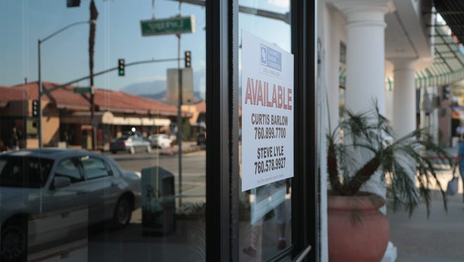 A vacant store front is located near the intersection of Larkspur and El Paseo in Palm Desert, Calif., February 15, 2018.