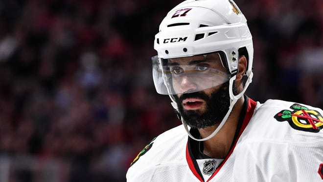 Johnny Oduya won two Stanley Cups in Chicago and this season in Ottawa played mostly with Erik Karlsson.