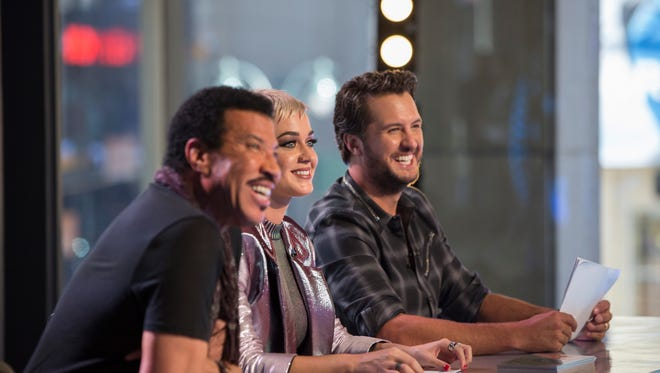 Music stars Lionel Richie, left, Katy Perry and Luke Bryan are the judges on ABC's 'American Idol' reboot.