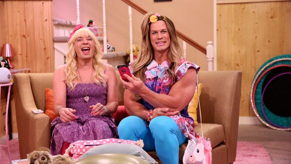 Jimmy Fallon and John Cena play Sara and Addison during
