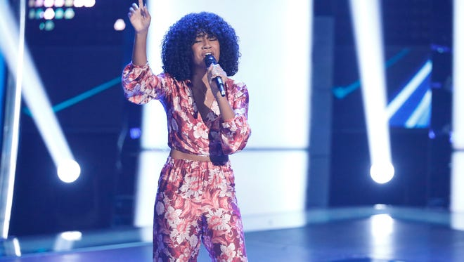 """Newark's Kelsea Johnson performs during the season premiere of """"The Voice."""""""