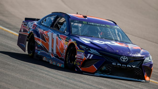 """It's one of the toughest decisions we have to make,"" said Denny Hamlin's crew chief Darian Grubb, of making the pit-stop calls."