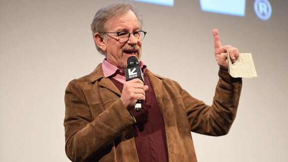 Steven Spielberg attends the world premiere of 'Ready