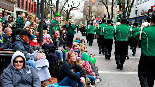 The 35th Annual York Saint Patrick's Day Parade makes its way down Market Street in York City, Saturday, March 17, 2018. Dawn J. Sagert photo