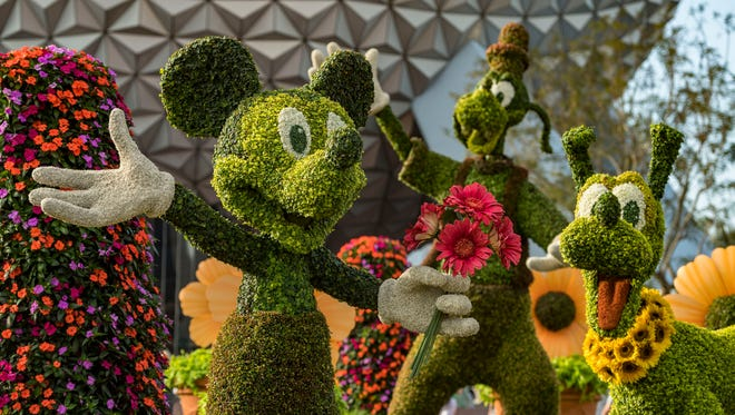 A magical floral topiary of Disney characters greets guests at the 25th Epcot International Flower & Garden Festival which runs 90 days Feb. 28-May 28, 2018, at Walt Disney World Resort.