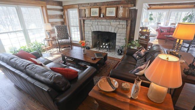 The living room at The Inn at Spring Run Farm in Prospect, KY. Mar. 22, 2018