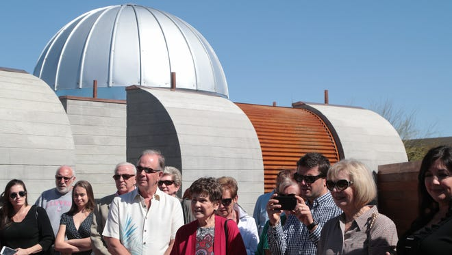 Small tours are taken through the new Rancho Mirage Observatory, Sunday, March 25, 2018.