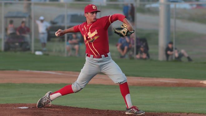 Palm Desert baseball defeats La Quinta in an 11-2 victory over their rival, La Quinta, Calif., April 3, 2018.