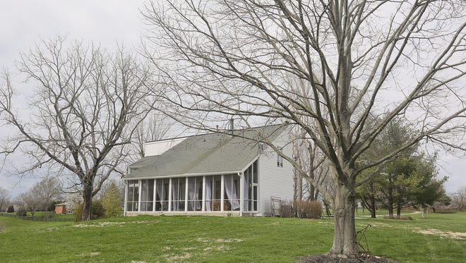 Claire and Ron Drury's home in Floyds Fork sits on 28 acres. It has five bedrooms and three bathrooms.