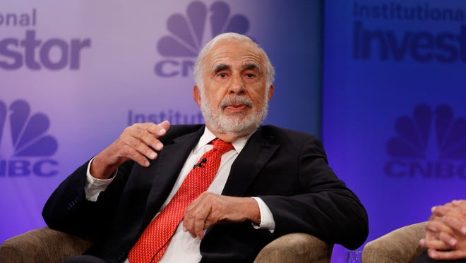 File photo taken in 2015 shows billionaire  investor Carl Icahn appearing at CNBC's Delivering Alpha debate on activist investing.