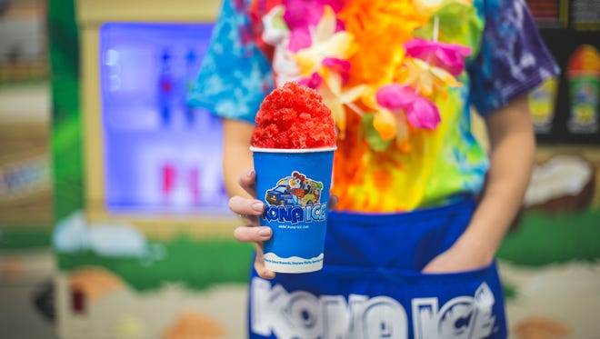 Florence-based Kona Ice will give out free flavored treats on Fountain Square and four other area spots as part of the company's National Chill Out Day to celebrate the end of tax season.