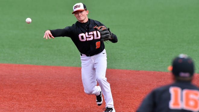Oregon State second baseman Andy Armstrong is having an excellent season at the plate and in the field.