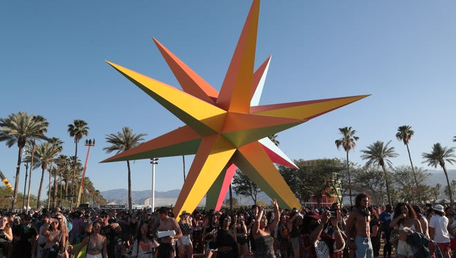 Supernova was one of the art installations on view at the Coachella Valley music and Arts Festival at Empire Polo Club. Mandatory Credit: Zoe Meyers/The Desert Sun via USA TODAY NETWORK
