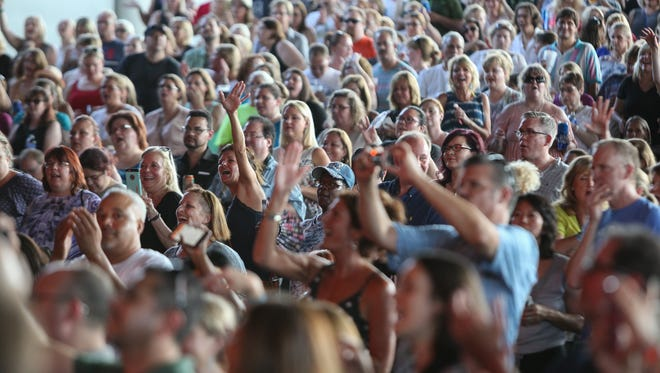 Fans at DTE Energy Music Theatre gather for Duran Duran and Nile Rodger's Chic on Monday, July 11, 2016.