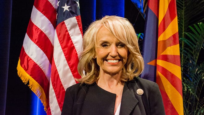 Former Arizona governor Jan Brewer described Republican Martha McSally of Tucson as a hard worker whose message should resonate with all brands of Republican voters.