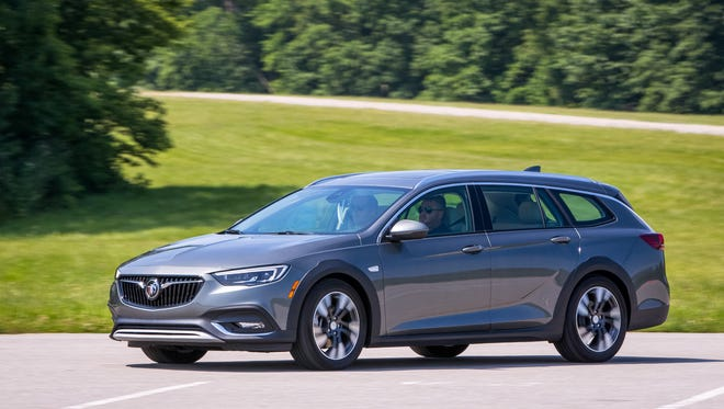 Inside the cabin, the new Buick Regal TourX interior design features premium materials and a host of modern technologies. Folding down the second row gives the TourX 73.5 cubic feet of cargo capacity.